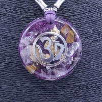 Collar Orgon Om Morado (5,4 cm Ajustable)