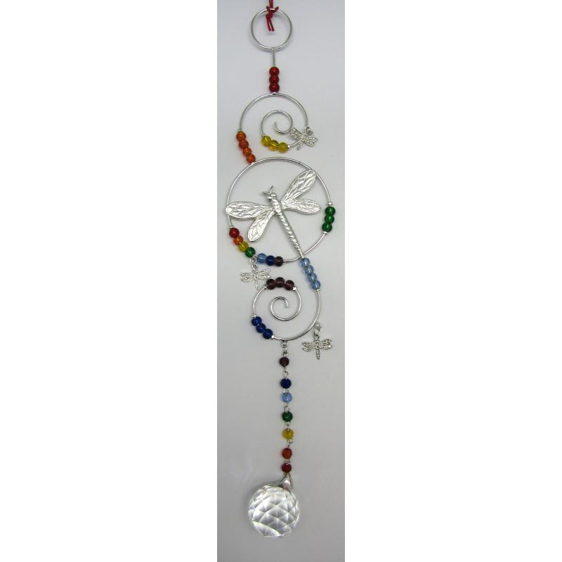Movil Cristal 7 Chakras DragonFly 30 cm (HAS) (Bola Feng Shui)